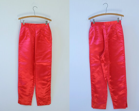 Red Hot Pants 1960s Cropped