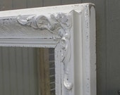 Linen White Painted Vintage Frame with Mirror