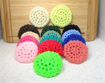 Scrubber, scrubbies, pan, dish scrubbie, red, green, blue, brown, tan, yellow, nylon net, gift. PLEASE choose colors when ordering.