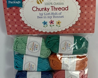Chunky Thread.#2 Sampler Package.Lori Holt.Bee in my Bonnet.Riley Blake Designs.Embroidery Thread.Crochet.Crafting.Cross Stitch
