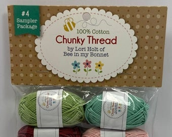 Chunky Thread.#4 Sampler Package.Lori Holt.Bee in my Bonnet.Riley Blake Designs.Embroidery Thread.Crochet.Crafting.Cross Stitch
