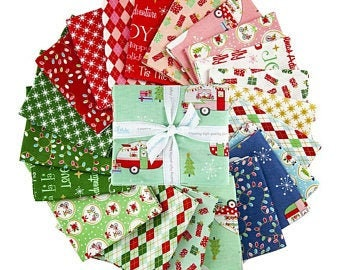 Christmas Adventure.Layer Cake.Beverly McCullough.Riley Blake.42=10 x 10 Squares.Pre-Cut Fabric.Winter Prints.Retro Holiday Prints