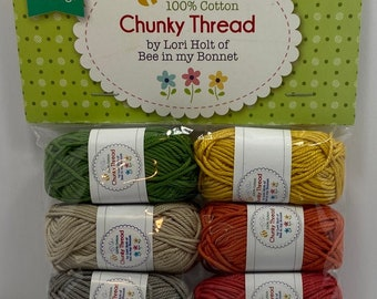 Chunky Thread.#3 Sampler Package.Lori Holt.Bee in my Bonnet.Riley Blake Designs.Embroidery Thread.Crochet.Crafting.Cross Stitch