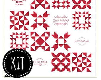 SALE - Quilt Kit - Very Merry Red Quilt - Sweetwater - Printworks Christmas Quilts - Moda Fabric