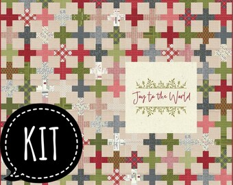 SALE - Quilt Kit - Joy To the World - Sweetwater - Printworks Christmas Quilts - Moda Fabric