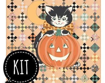 SALE - Quilt Kit - Kitty Corn - Urban Chiks for Moda Fabrics