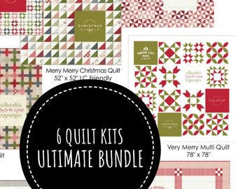 SALE - Ultimate Quilt Kit Bundle - Sweetwater Printworks Christmas Quilts - Moda Fabric