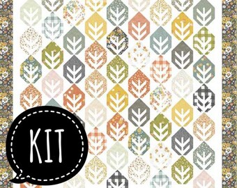 SALE - Quilt Kit - Leaves Quilt - Corey Yoder - Coriander Quilts - Cozy Up - Moda Fabric