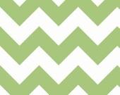 SALE - Large Chevron Stripe in Green - sku C330 30 - 1 Yard - by Riley Blake Designs