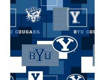 SALE - 4 yards - Brigham Young University - cotton fabric - BYU