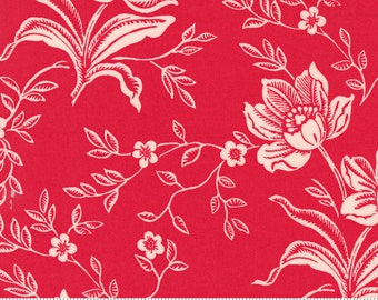 SALE - Backing - 108 Wide - Woodcut Floral in Red - 11175 15 - Fig Tree Quilts for Moda Fabrics - Choose Your Length