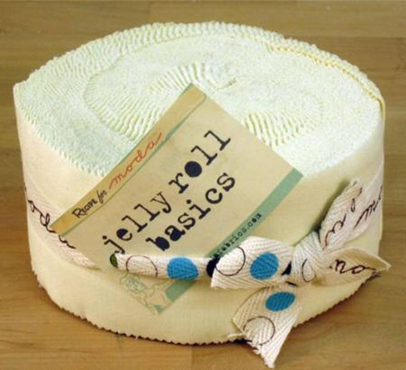 Moda Fabric Snow White 9900JR 11 SUMMER SALE Bella Solid Jelly Roll