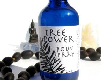 tree power body spray, facial toner, aftershave, deodorant, room spray, linen spray, cooling mist