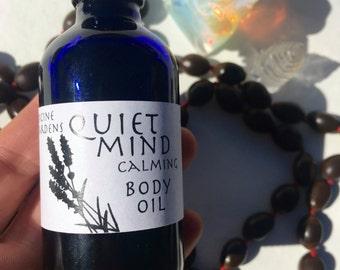 quiet mind body oil -- calming massage oil & moisturizer 4 oz