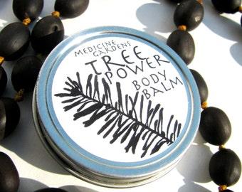 tree power body balm- moisturizing skin balm salve for tired winter skin