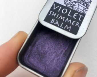 violet shimmer balm made with mica powder all natural mineral makeup make up