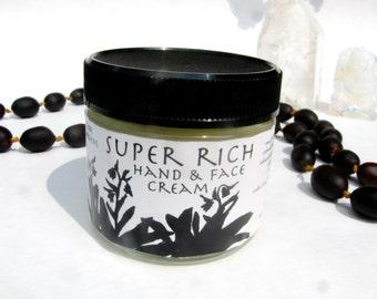 super rich healing cream-- freshly made moisturizing hand and body cream for skin needing extra tlc herbal skin care comfrey calendula