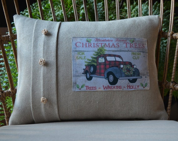 Mistletoe Farms Christmas Pillow (available in 3 styles)