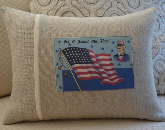 It's A Grand Old Flag Pillow (available in 3 styles and 2 sizes)