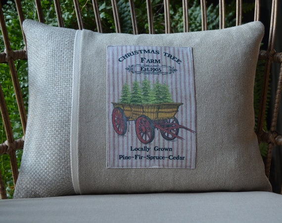 Christmas Trees In A Wagon Pillow (available in 3 options)