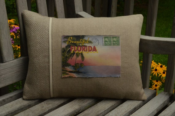Beautiful Florida Postcard Pillow