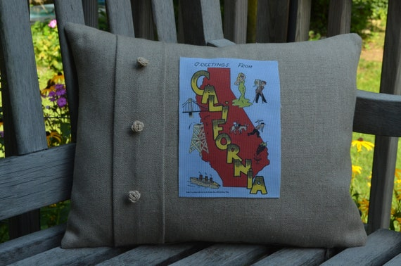 Whimsical California Pillow