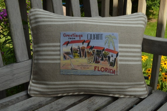 Greetings From Quaint Key West Pillow