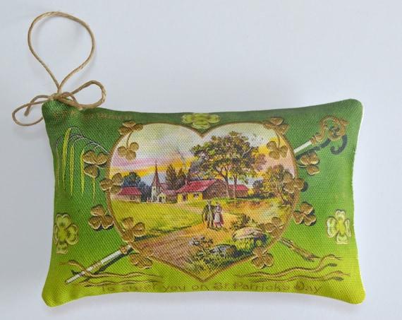St. Patrick's Day Heart Lavender Sachet