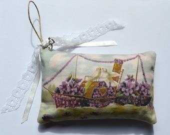 Wedding Bridal Lavender Boat Sachet