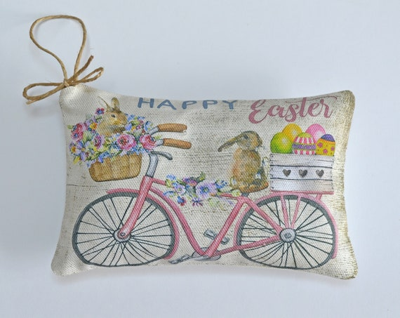 Happy Easter Bicycle Lavender Sachet