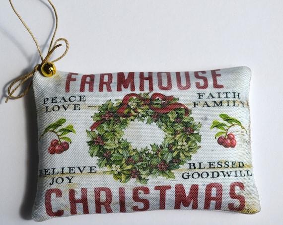 Farmhouse Christmas Wreath Balsam Sachet