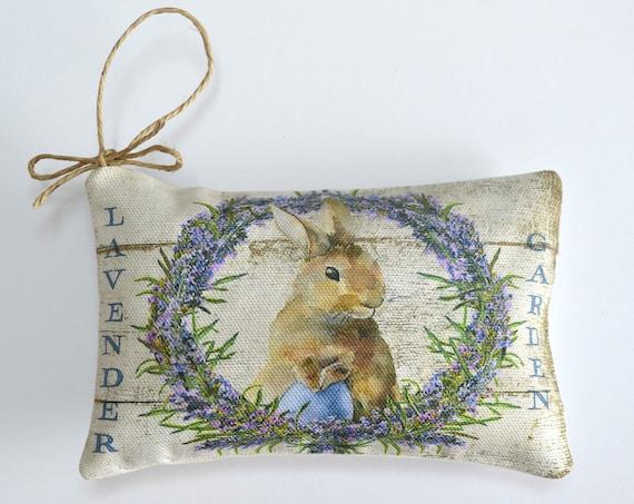Lavender Garden Bunny Wreath Sachet