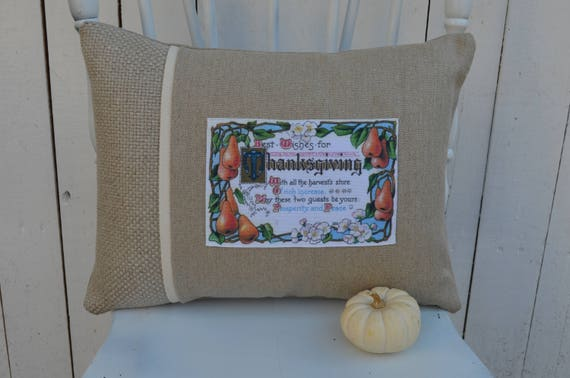 Best Wishes for Thanksgiving Pillow