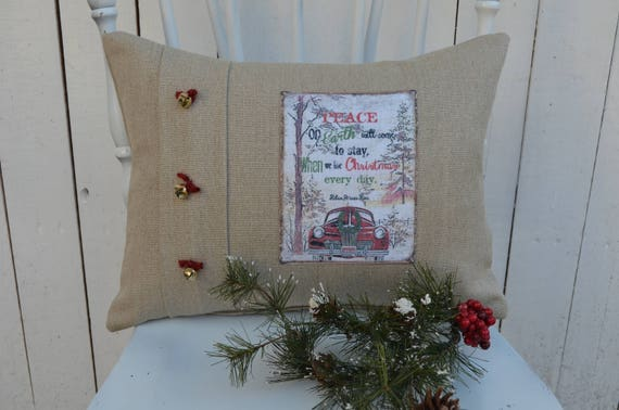 Peace on Earth Christmas Pillow