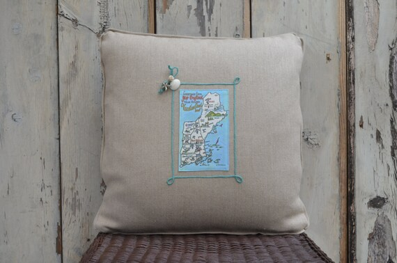 New England Postcard Pillow