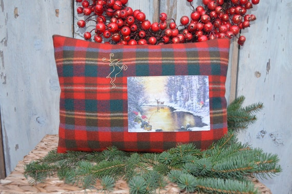 Winter Scene Holiday Pillow