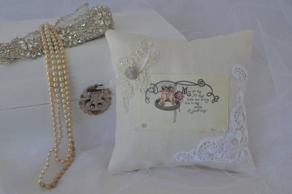 "Wedding Ring Bearer Pillow ""Wedding Ring"""