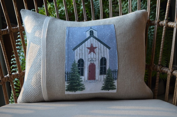 Folk Art Church Pillow ( available in 3 styles)