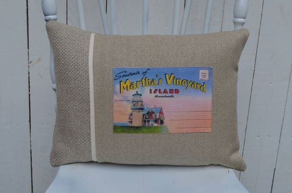 Martha's Vineyard Souvenir Pillow (available in 3 styles and 2 prices)