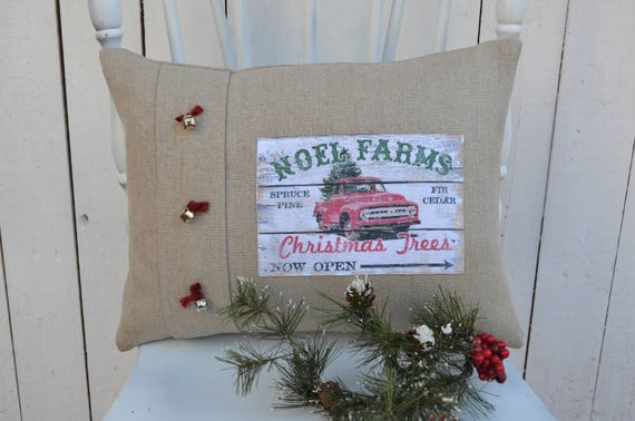Noel Farms Christmas Pillow