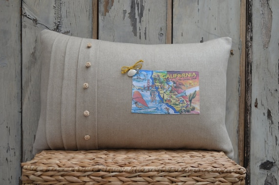 California Postcard Pillow (available in 3 styles and 2 prices)