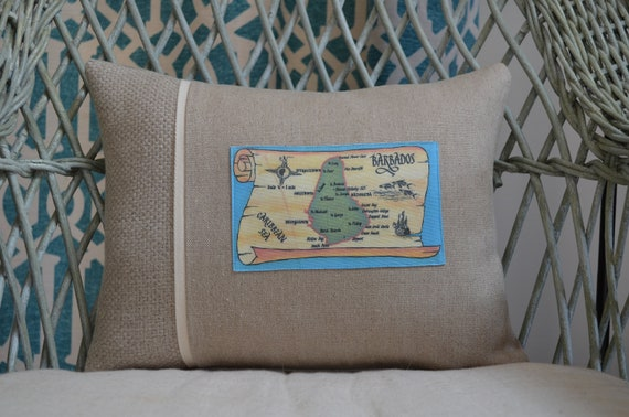 Barbados Postcard Pillow ( available in 3 styles and 2 sizes)