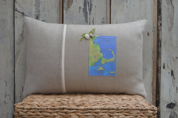 Cape Cod and the Islands Postcard Pillow  (available in 3 styles and 2 prices)