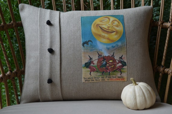 What The Moon Saw On Halloween Pillow