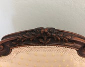 French Dining Side Chair Desk Chair Carved Louis XV Style
