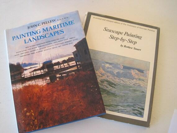 Pair Art Instruction Books Painting Maritime Landscapes John Etsy