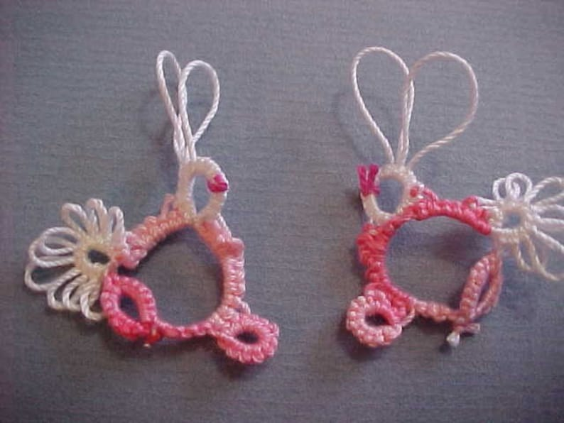 4 Tatted Bunnys by Dove Country Tatting
