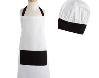 Personalized Childs Apron and Chef Hat Set