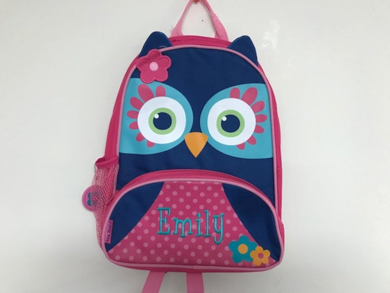 950113e486dd Personalized Stephen Joseph Sidekicks Owl Backpack New