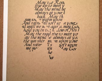 Simple Greeting Card All Occasion with Envelope Irish Blessing Inexpensive Sent Fast C52